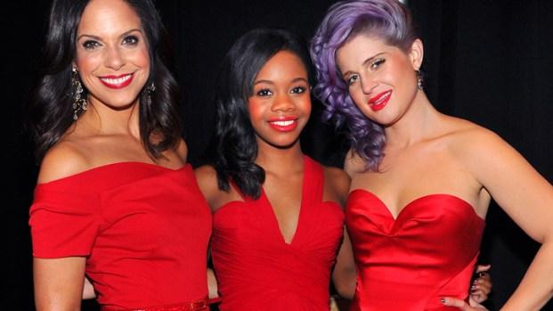 [AP] Fashion Week's Red Dress Arrivals