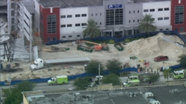 [MI] RAW VIDEO: Garage Collapse at Miami-Dade College