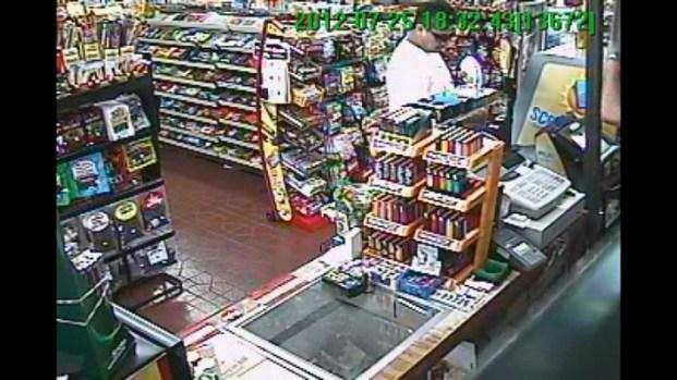 [BAY] Raw Video: Surveillance Captures Lottery Winner