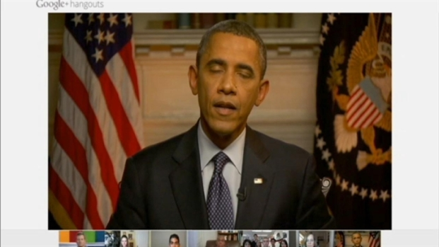 [BAY] Raw Video: Pres. Obama on Google+ Hangout