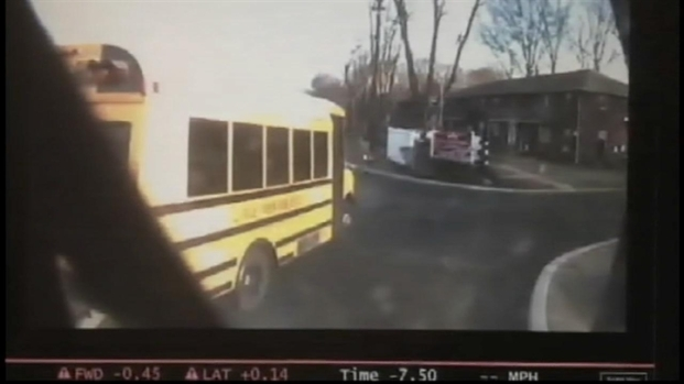 [V-NATL-NY] Violent Crash Sends NJ Commuter Bus Careening Out of Control