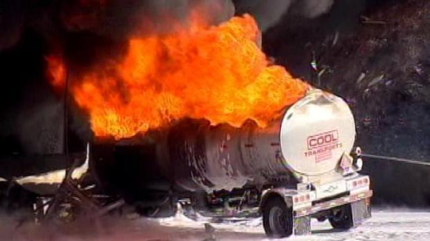 [LA] Tanker Fire Cleanup Could Last Days