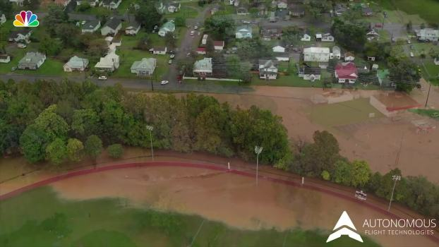 Drone Footage Shows Flooding in Salem, Va.
