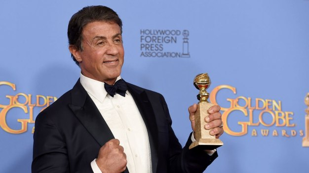 Stallone Gets Standing Ovation for 1st Globes Win