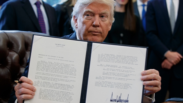 Trump Signs Executive Order to Reinstate Global Gag Rule