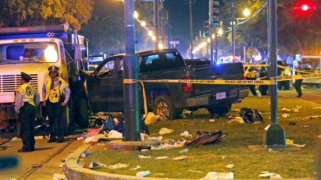 28 Hurt When Car Plows Into New Orleans Parade Crowd; Suspect in Custody