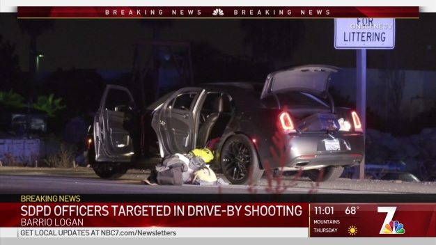 Drive By Shooting Targets SDPD Detectives in Barrio Logan