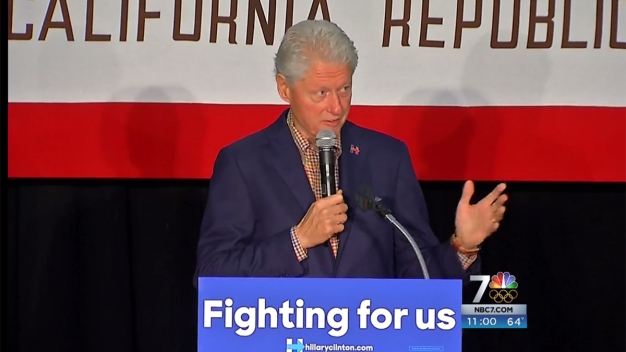 Bill Clinton Visits San Diego