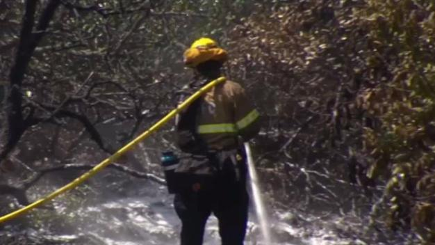 Brush Fire Breaks Out on Same Canyon in Two Days