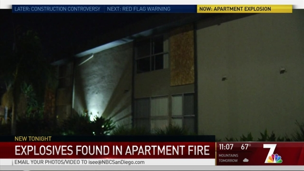 CVPD: Weapons, Explosive Devices Found in Apartment Fire