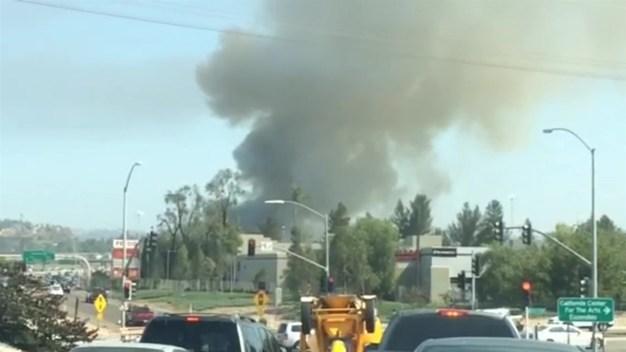 Fire Engulfs Escondido Building