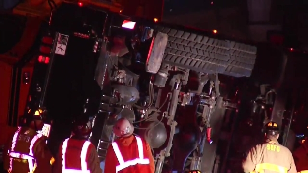 Toppled Crane Blocks Sabre Springs On-Ramp to I-15