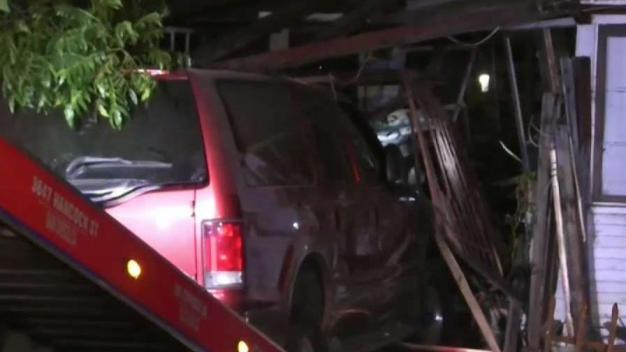 Driver Says Brakes Gave Out Sending Car Into Lakeside Home