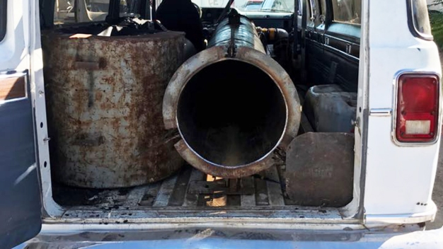 Images: Homemade 'Drug Cannon' Seized in Mexico