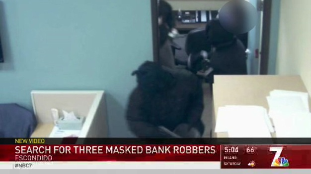 SDPD Search for Three Masked Bank Robbers