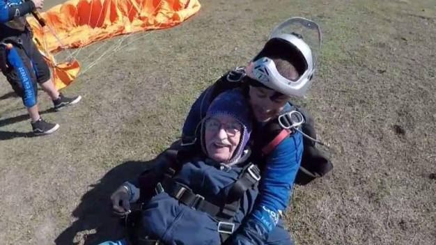 Exclusive: 90-Year-Old WWII Vet Skydives for The First Time