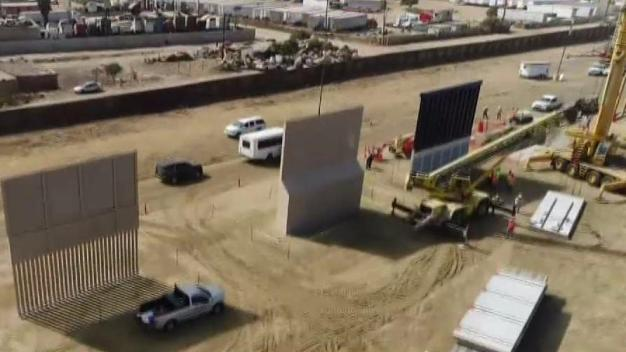 Five Border Wall Prototypes Now Standing