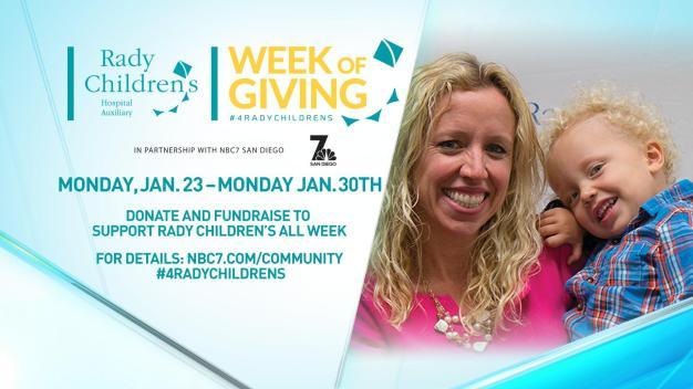 Rady Children's Week of Giving