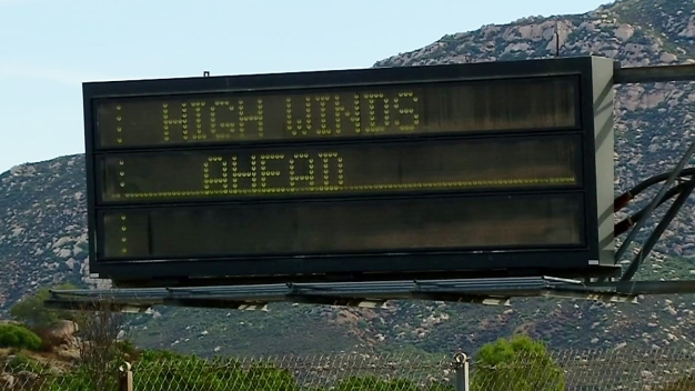 Strong Winds, Dry Conditions in East County