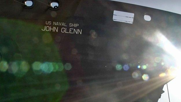 Salute: U.S. Navy Ship John Glenn