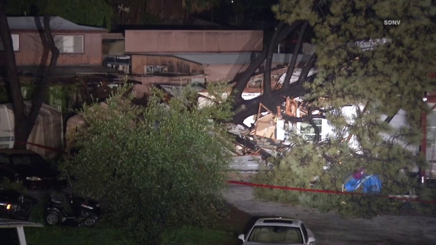 60 Foot Tree Crushes La Mesa Home