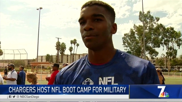 MJ's Minute-Chargers Host NFL Boot Camp for Local Military