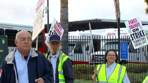 MTS Picket Line May Delay Commute