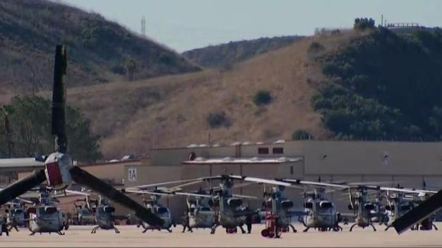 Marine Helicopters Used in Fighting Lilac Fire