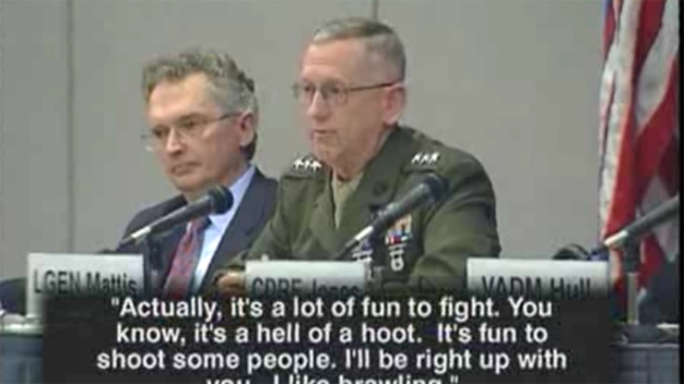 'It's Fun to Shoot Some People': Mattis in 2005 Appearance