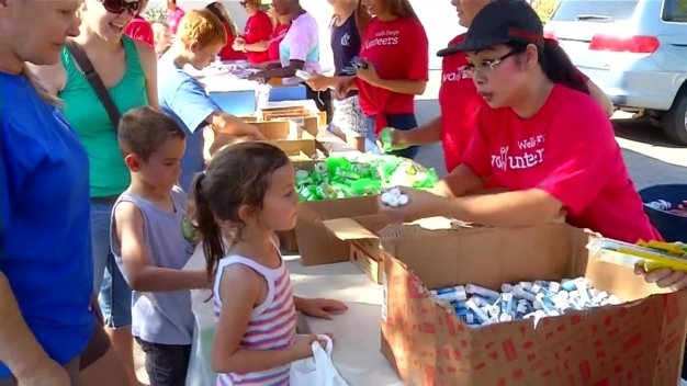 400 Military Children Given Free School Supplies