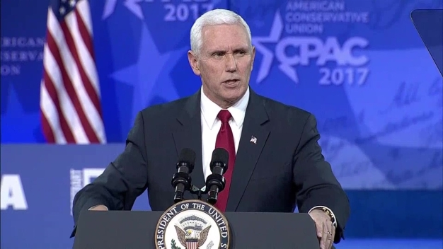Pence Addresses Crowd at CPAC
