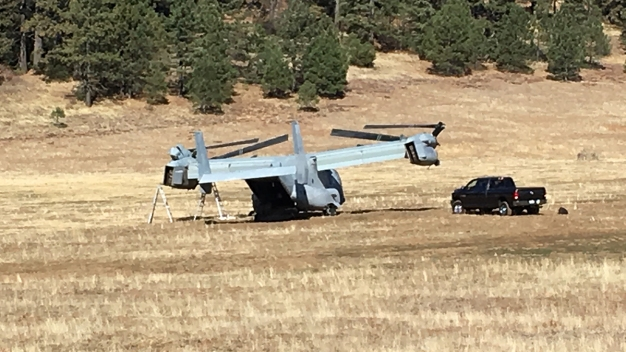 U.S. Marine Osprey Makes Precautionary Emergency Landing