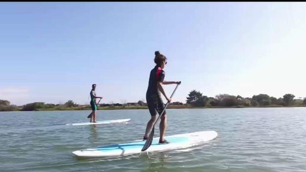 Paddle boarding Through Stinson Beach