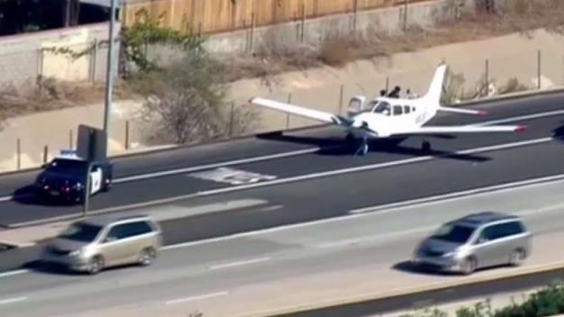 Plane Makes Emergency Landing on I-8