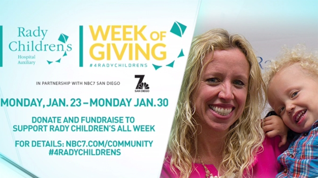 Week of Giving for Rady Children's