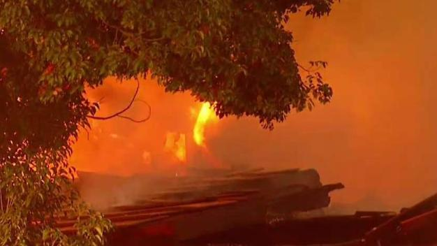 Fire Tears Through Vacant Old Escondido Country Club
