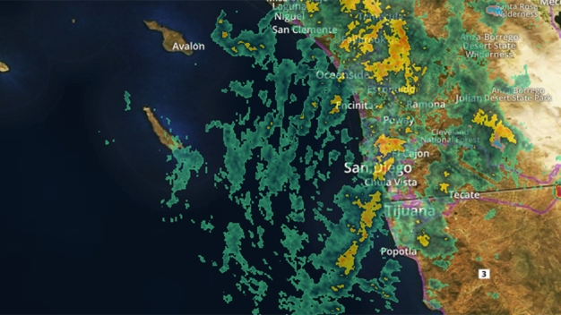 First Storm in Series Hits San Diego
