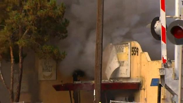 Firefighters Tackle Escondido Blaze