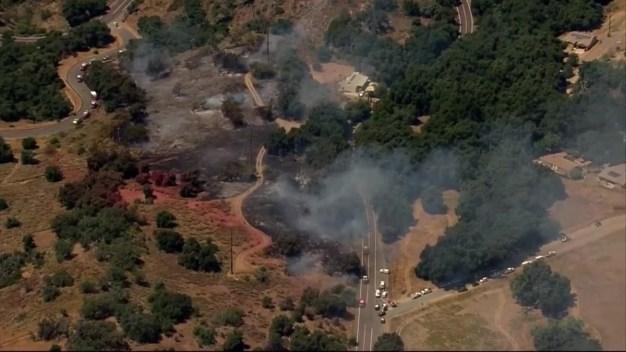 Red Gate Fire Burns in Pauma Valley