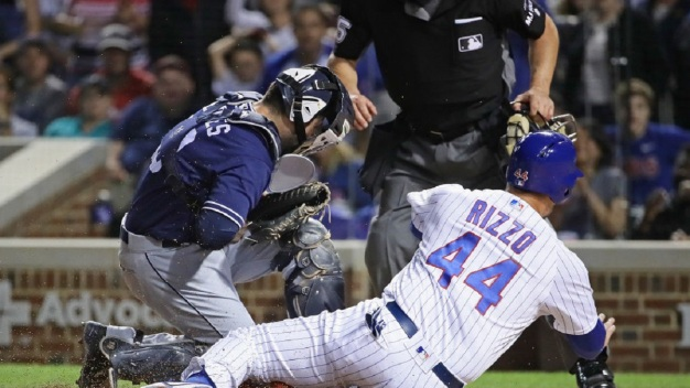Cubs Muscle A Win Away From Padres