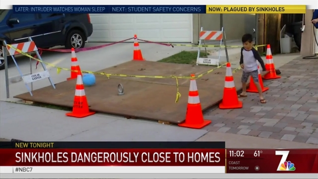 Crews Repair Santee Sinkholes