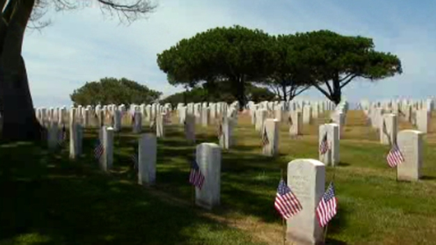 Boy Remembers Father on Memorial Day at Fort Rosecrans