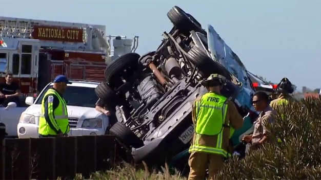 4 Seniors Hospitalized in Passenger Van Rollover Crash