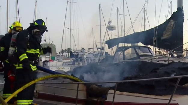 Woman Escapes Boat Fire on Shelter Island