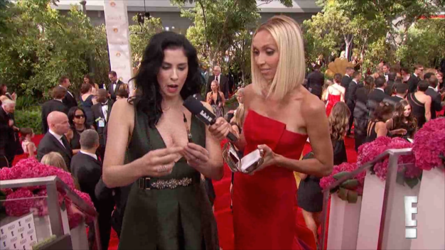 "Silverman Shows ""Liquid Pot"" Pen on Emmys Red Carpet"