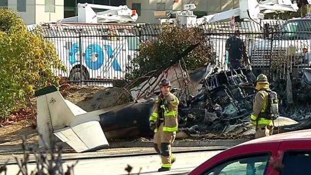 Small Plane Crashes Near Gillespie Field