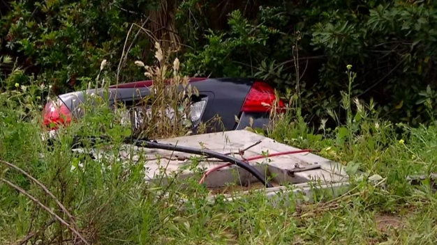 Stolen Car Left Abandoned in Ravine in Kensington