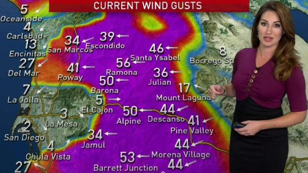 Strong Winds from Mountains to Coast