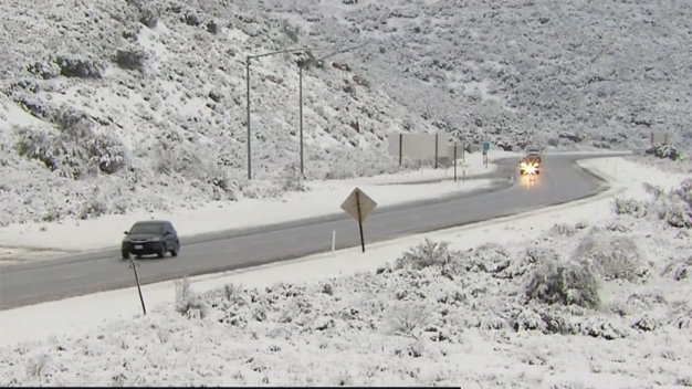 New Snow Falls East of San Diego