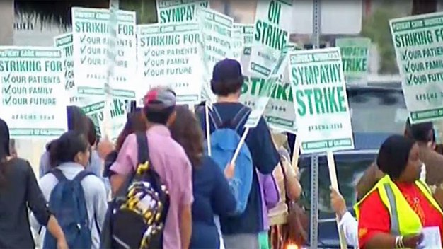 Workers Strike at UC Medical Centers